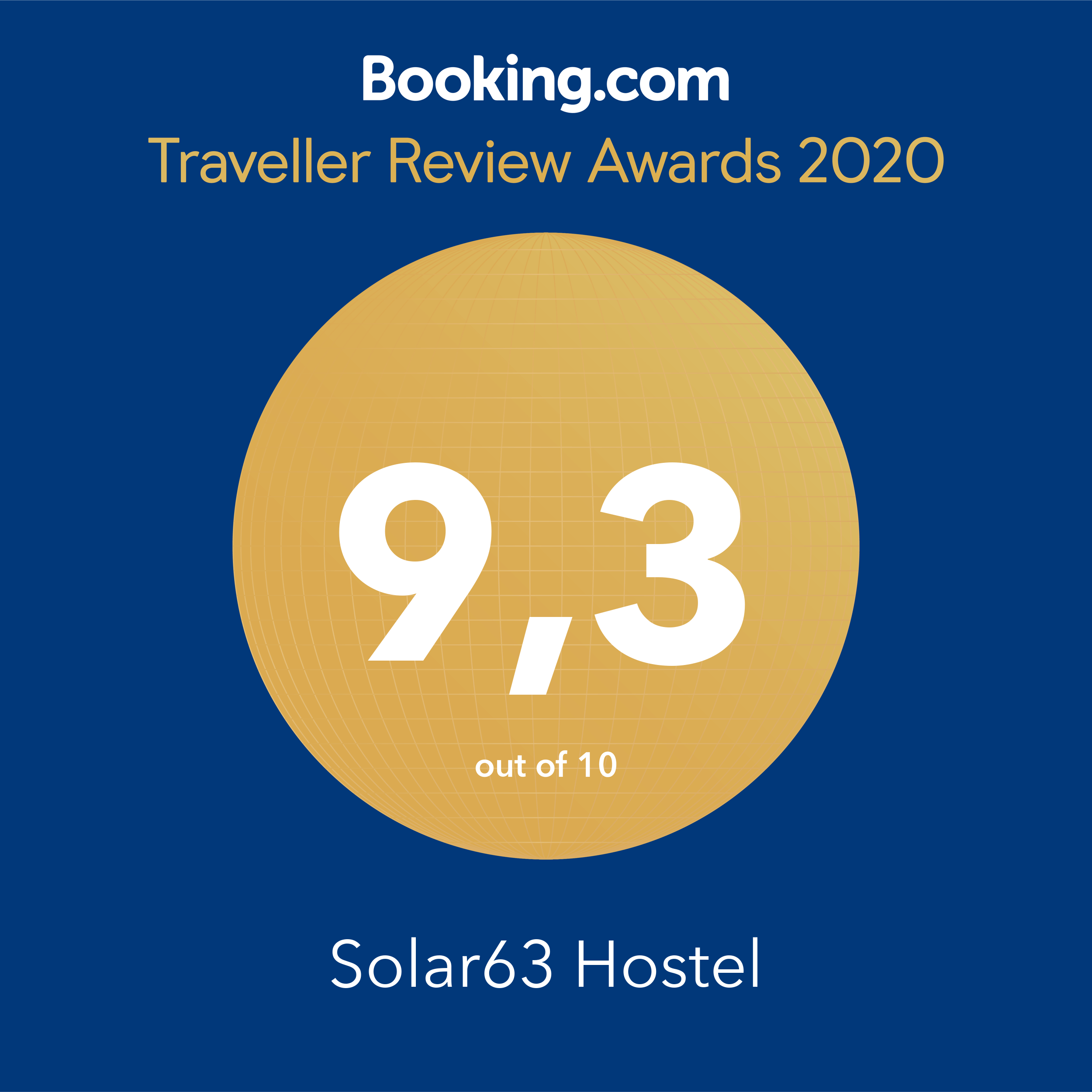Solar63 Hostel Porto Alegre 9,3 Traveller Review Awards 2020